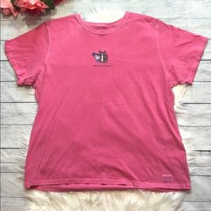 Life is Good Pink Hold Your Horses Graphic Tee
